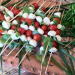 "More Sunny Food for a Rainy Day – ""linear caprese"" photo featured in the LA Times Food section!"