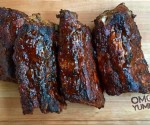 Smoky Bourbon Baby Back Ribs on omgyummy.com