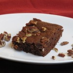Saturday Night Chocolate Craving: Mocha Brownies with Toasted Pecans and Sea Salt