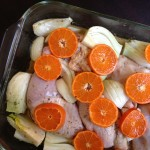 Bursting with Flavor and Color: Roasted Chicken with Clementines, Onion, Fennel, and Vermouth