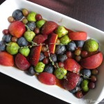 Changing Course: Roasted Fruit with Honey, Pomegranate Molasses, and Port