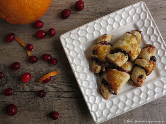 Cranberry Orange Rugelach for Thanksgivukkah - OMG! Yummy