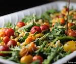 Tomato, Corn, and Arugula Salad