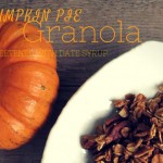 Pumpkin Pie Granola Sweetened with Date Syrup