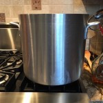 Industrial sized stock pot for homemade turkey stock