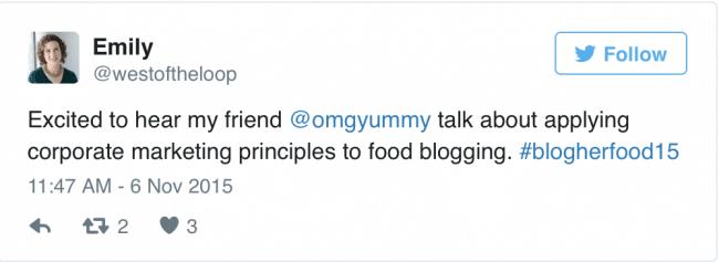 West of the Loop's Emily Paster's tweet