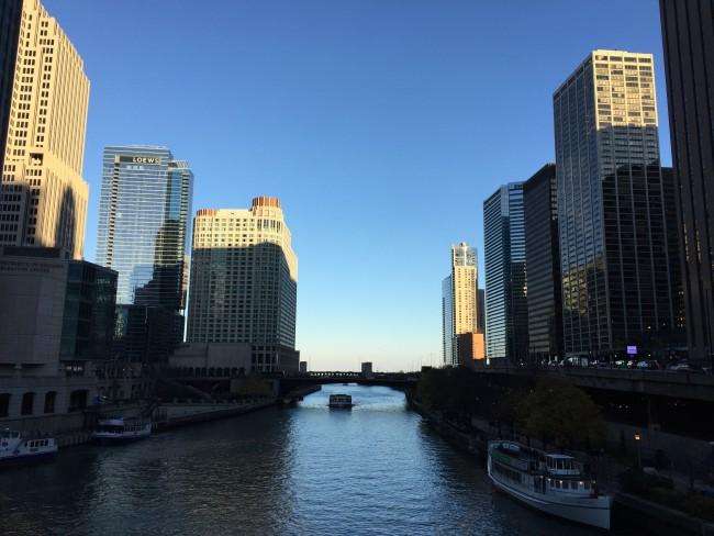 Chicago Skyline facing Lake Michigan