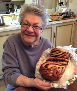 Vicki Bensinger's mom loving her homemade chocolate babka from her daughter!
