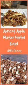 Apricot Apple Matzo Farfel Kugel