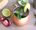 pomegranate mule cocktail