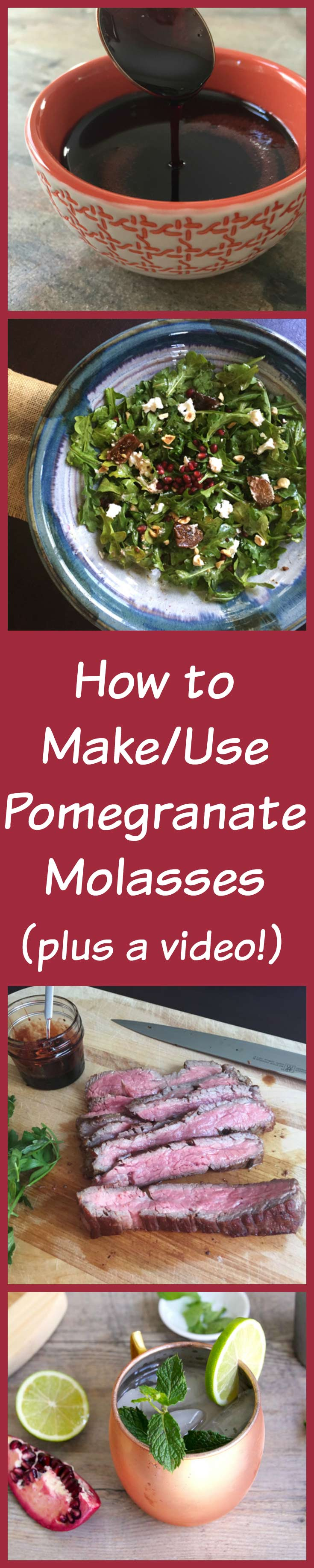 how to make and use pomegranate molasses