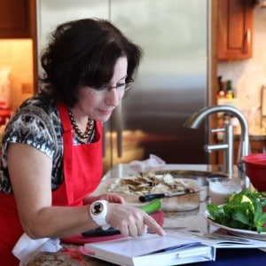 in my kitchen for NY Times photo shoot cooking from Jerusalem cookbook