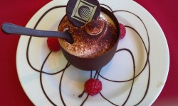 The big finish - Tiramisu in a chocolate cup or was that my cappuccino I ordered?