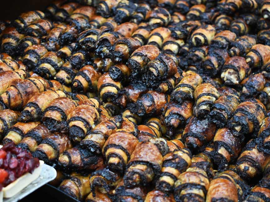 chocolate rugelach in Israel at Machane Yehuda market