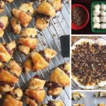 pinterest image showing steps to make rugelach