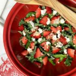 Strawberry Spinach Salad with Goat Cheese, Pecans, and Homemade Balsamic Dressing