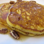 Wordless Wednesday (almost) – Pumpkin Pecan Pancakes