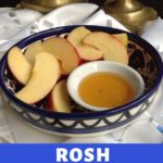 candles and apples and honey for rosh hashanah