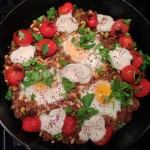 "Wordless Wednesday: Braised Eggs w Lamb from ""Jerusalem: A Cookbook"""