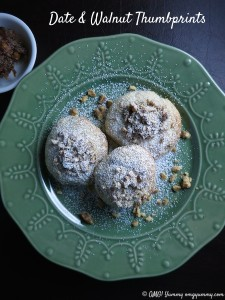 Date and Walnut Thumbprints