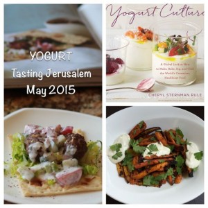 "We're celebrating the ubiquitous and versatile ingredient yogurt this month which is not only prevalent in all the Ottolenghi books but the star of Cheryl Sternman Rule's new book ""Yogurt Culture"". Join Tasting Jerusalem's special guest Cheryl all thru the month of May and if you answer a culture quiz, we'll enter you to win a copy of her fabulous new book!"