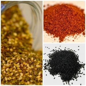 October Unprocessed 2015 - Use Ancient Ingredients - Za'atar, Sumac, Nigella Seeds - to inspire your modern day cooking