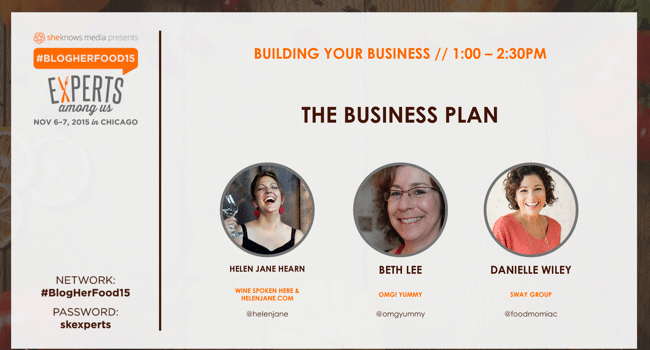 BlogHerFood15 presentation Business Plan