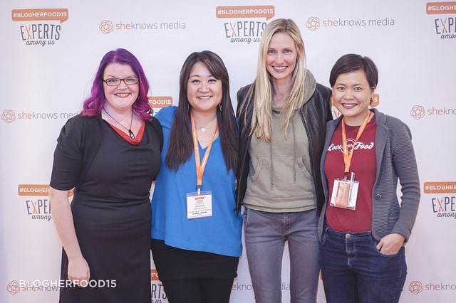 The four pitch candidates at BlogHerFood15