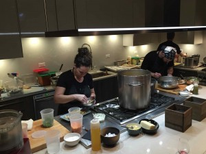Stephanie Izard and her team in the Little Goat Kitchen