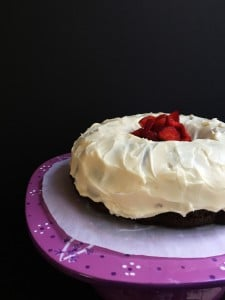 A Chocolate Lover's Chocolate Cake with Cream Cheese Frosting