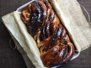 Chocolate Babka baked and ready to devour