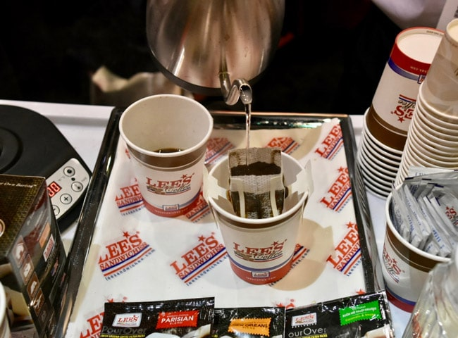 Winter Fancy Food Show 2018 Lee's Pour Over Coffee on the go