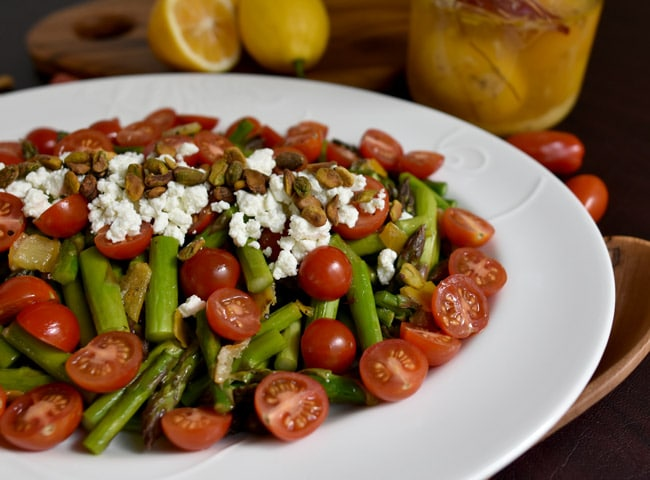 Roasted Asparagus Salad with Preserved Lemon and Cherry Tomatoes