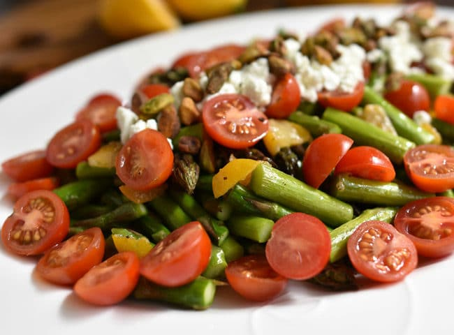 Roasted Asparagus Salad with Preserved Lemon