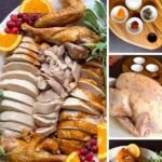 pinterest image showing steps to dry brine a turkey