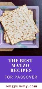 matzo boards on purple matzo plate
