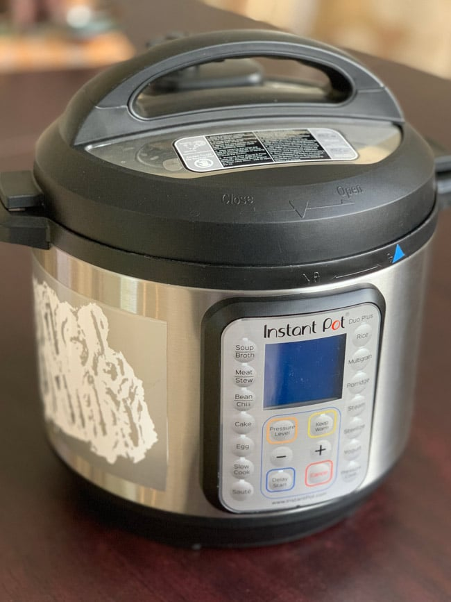 instant pot on table