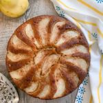 Pear Cake with Olive Oil, Ginger and Cinnamon