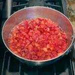 jam ingredients in pot on stovetop