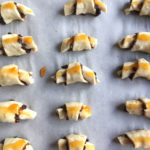 Chocolate Rugelach with Apricot Jam and Currants with Step-by-Step Instructions