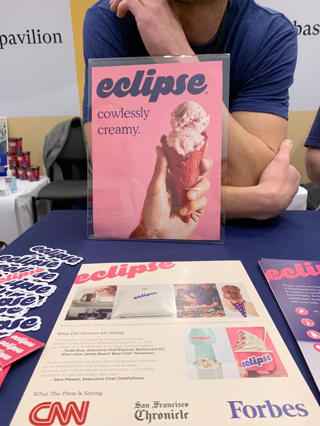 Eclipse plant-based soft serve ice cream - another 2020 food trend
