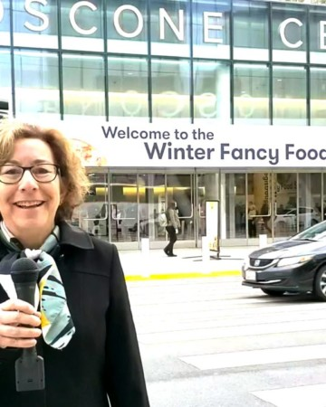 Beth Lee covering 2020 food trends at the Winter Fancy Food Show