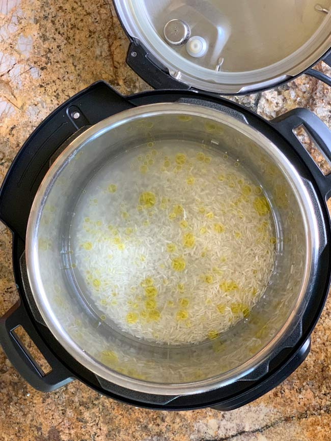 uncooked basmati rice in instant pot