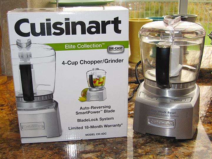 photo of mini food processor with its box
